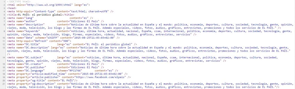 código html el pais
