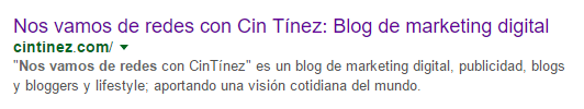 Metadescription blog Cin tinez