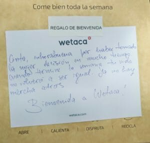 Mensaje personalizado Wetaca - CinTínez